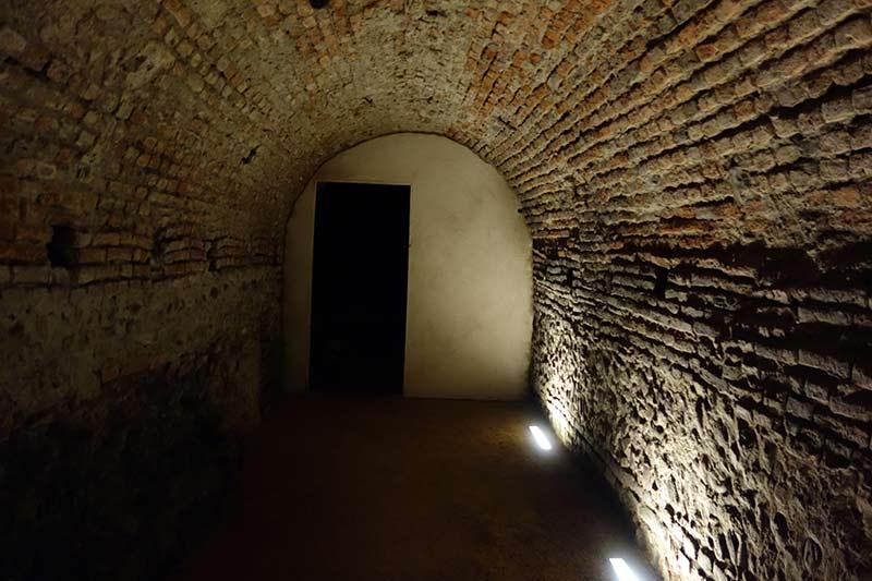 Underground entrance to the capitolium (main temple) excavation