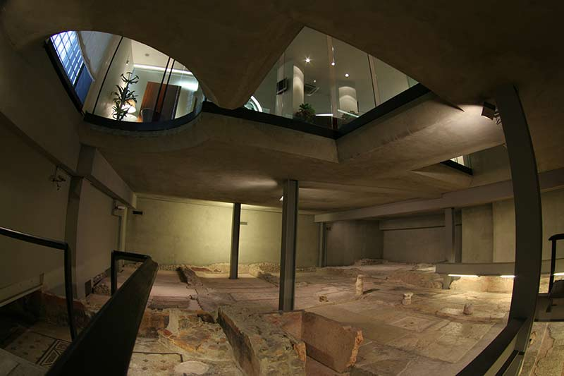 Roman Domus (patrician house) in the basement of a bank in Verona