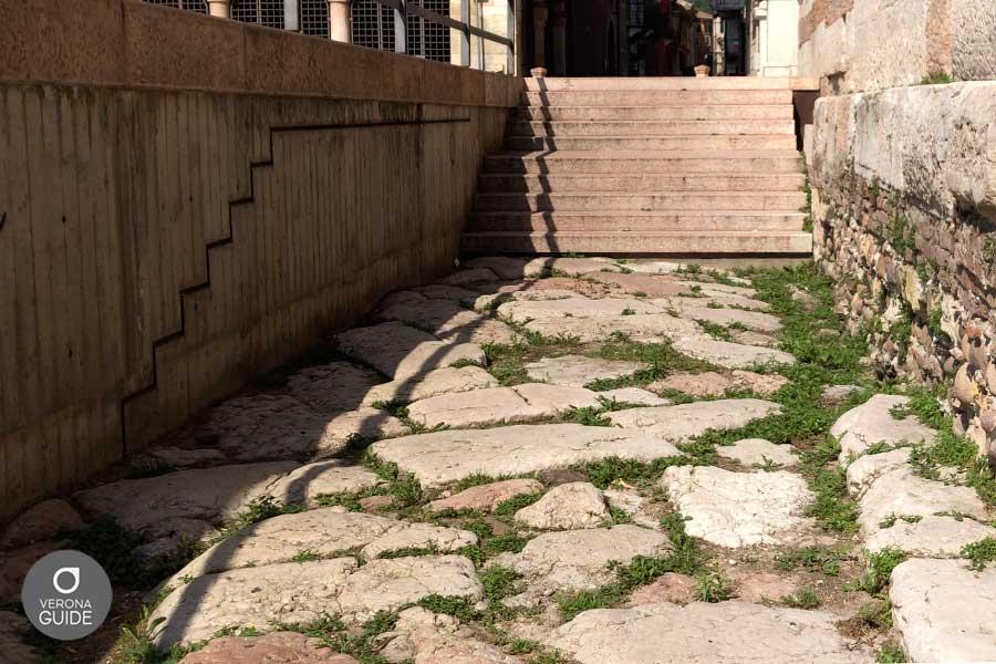 Strade romane sotto il livello stradale